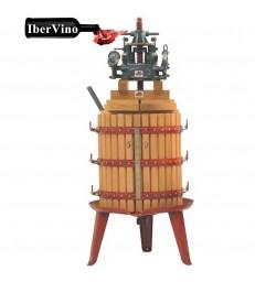 Prensa vertical manual cabezal hidráulico
