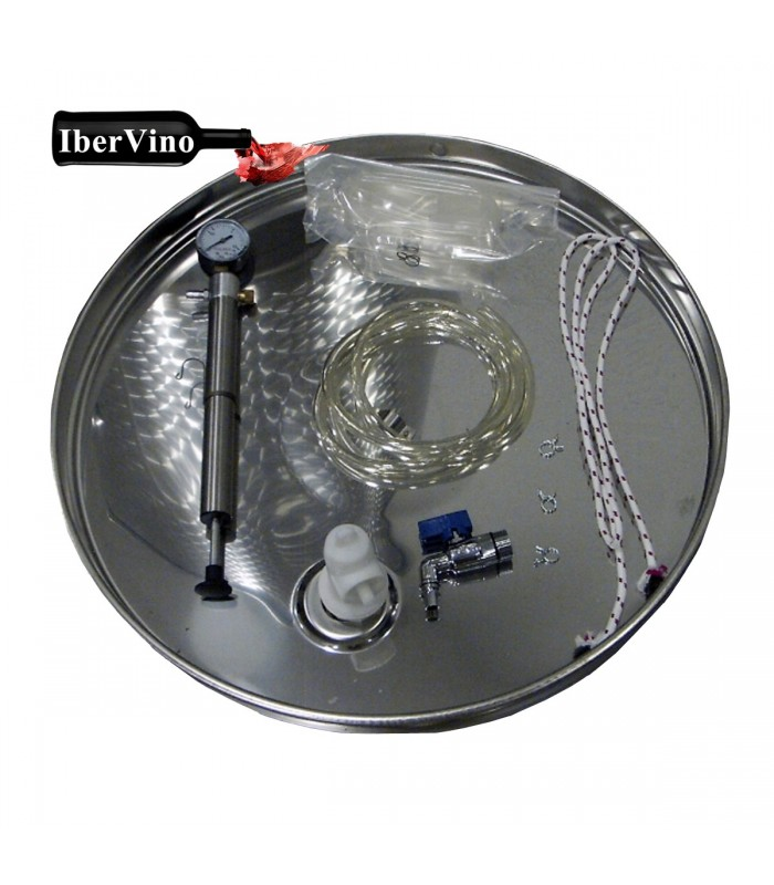 Tapa neumática completa de acero Inox para depósitos