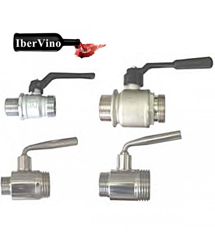 Válvula de rosca macho acero Inox / latón cromado