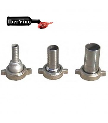 Racor de acero Inox enológico 30 a porta manguera