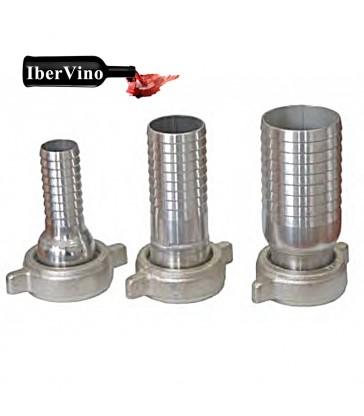 Racor de acero inox enológico 40 a porta manguera