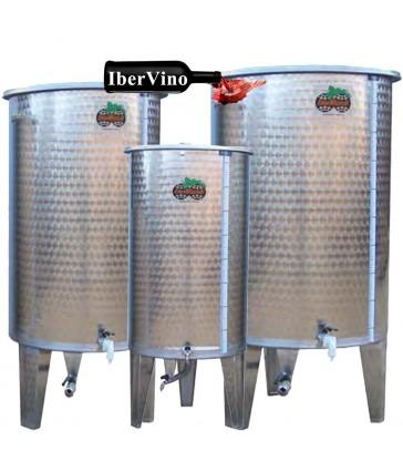 Depósito de acero Inox de fondo plano para aceite