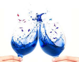 Blue wine.